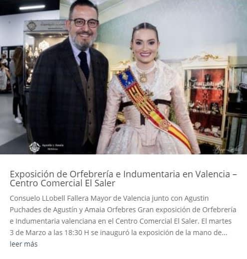 Exposición de Orfebrería e Indumentaria en Valencia – Centro Comercial El Saler