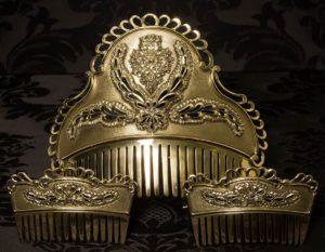 Peineta de Fallera reborde barroco repujada Ref. 507