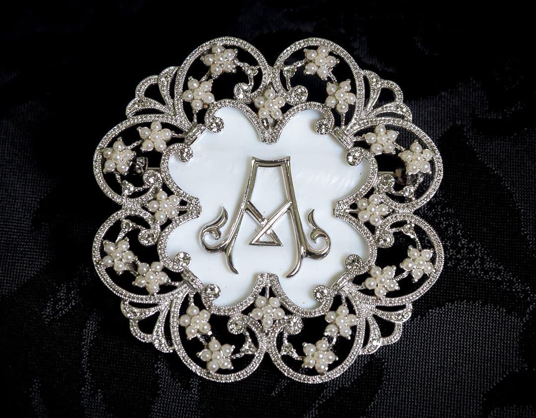 Colgante Medallón - Broche siglo XVIII ref. BP1 Rodio