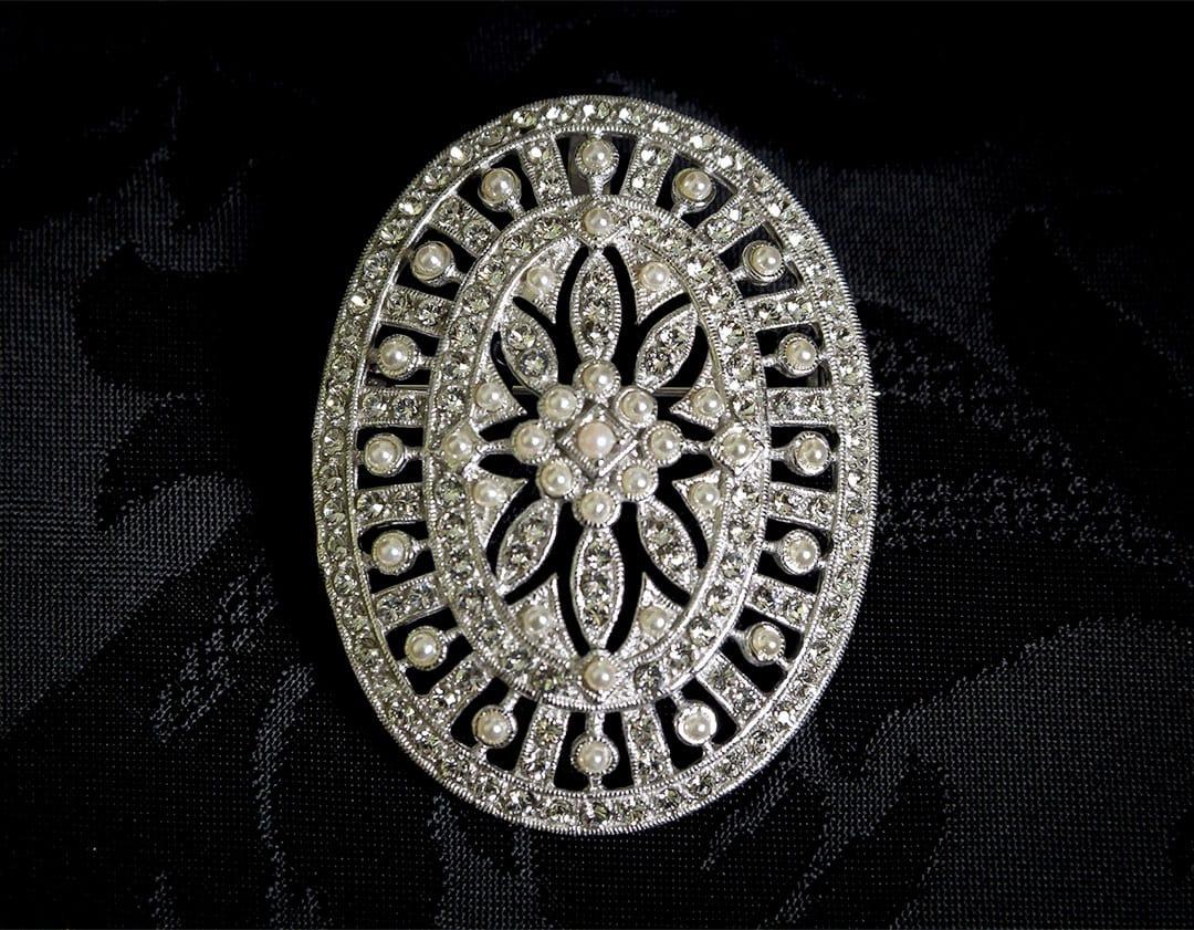 Colgante Medallón - Broche siglo XVIII ref. BP10 Rodio