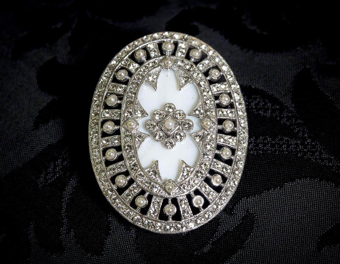 Colgante Medallón - Broche siglo XVIII ref. BP3 Rodio