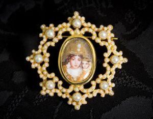 Colgante siglo XVIII broche ref. 3041 vd oro