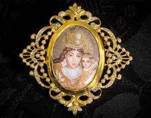 Colgante siglo XVIII broche ref. 3046 vd oro