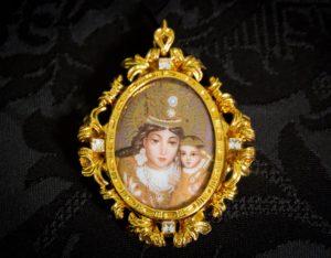Colgante siglo XVIII medallón ref. 3047 vd oro