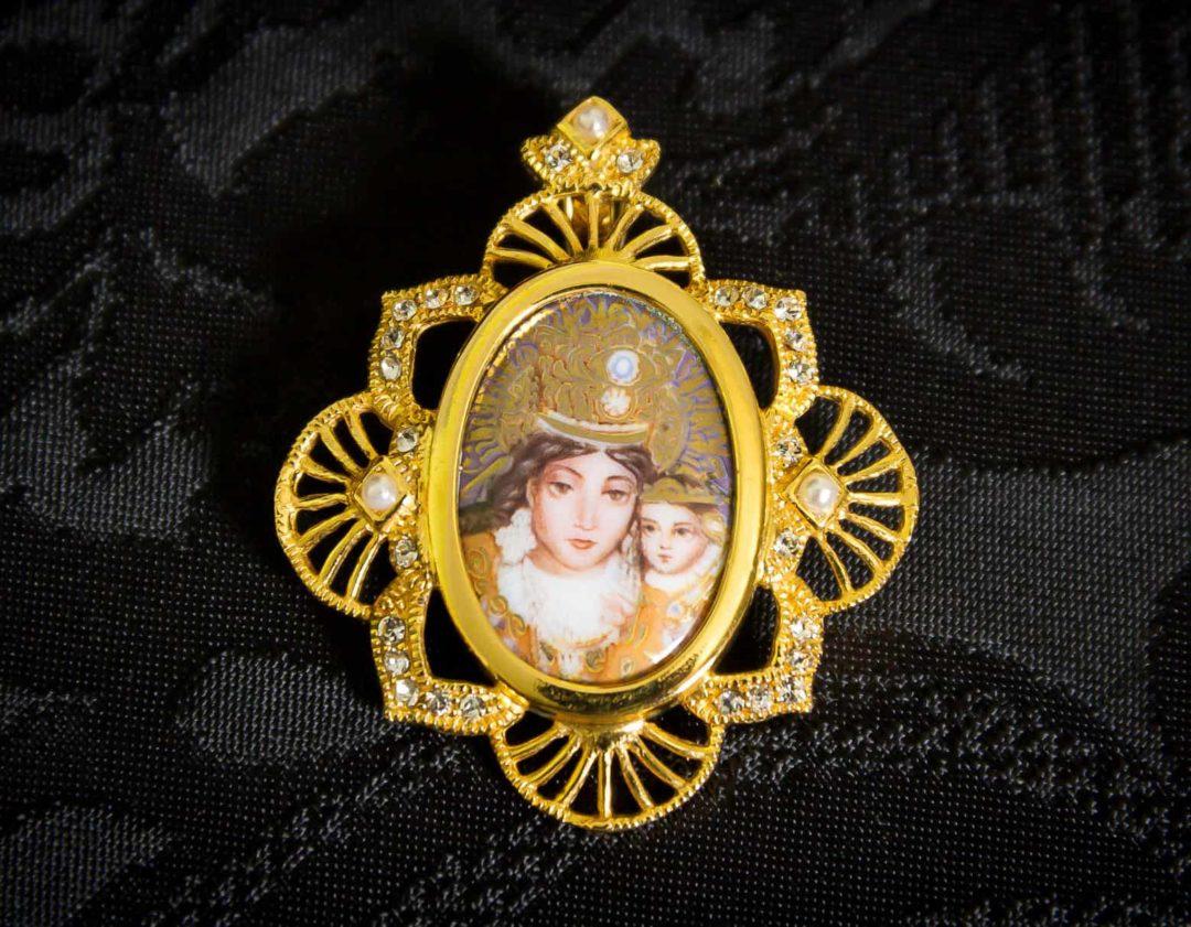 Colgante siglo XVIII medallón ref. 3056 vd oro