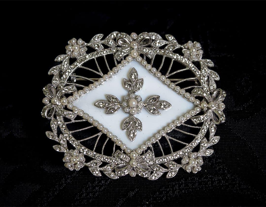 Colgante Medallón - Broche siglo XVIII ref. BP4 Rodio