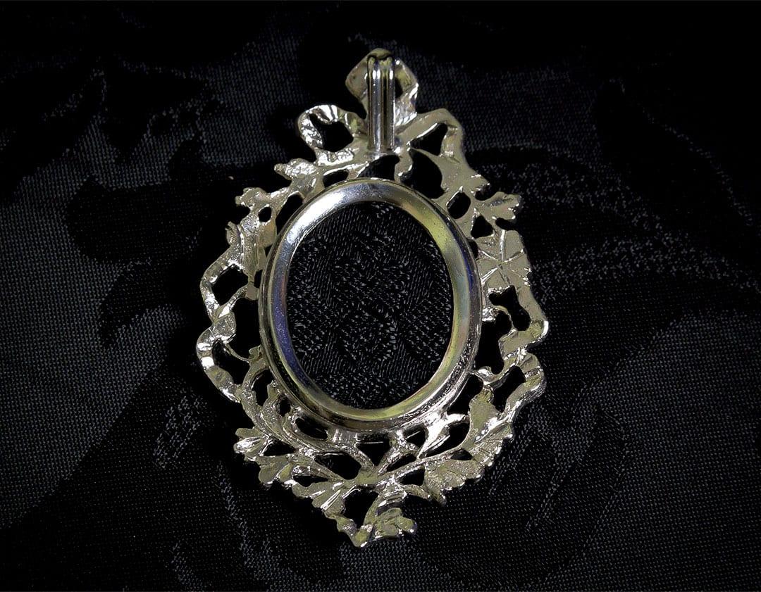 Colgante siglo XVIII medallón ref. 52 sm rodio