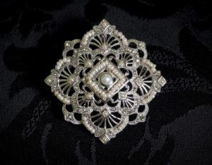 Colgante Medallón - Broche siglo XVIII ref. BP8 Rodio