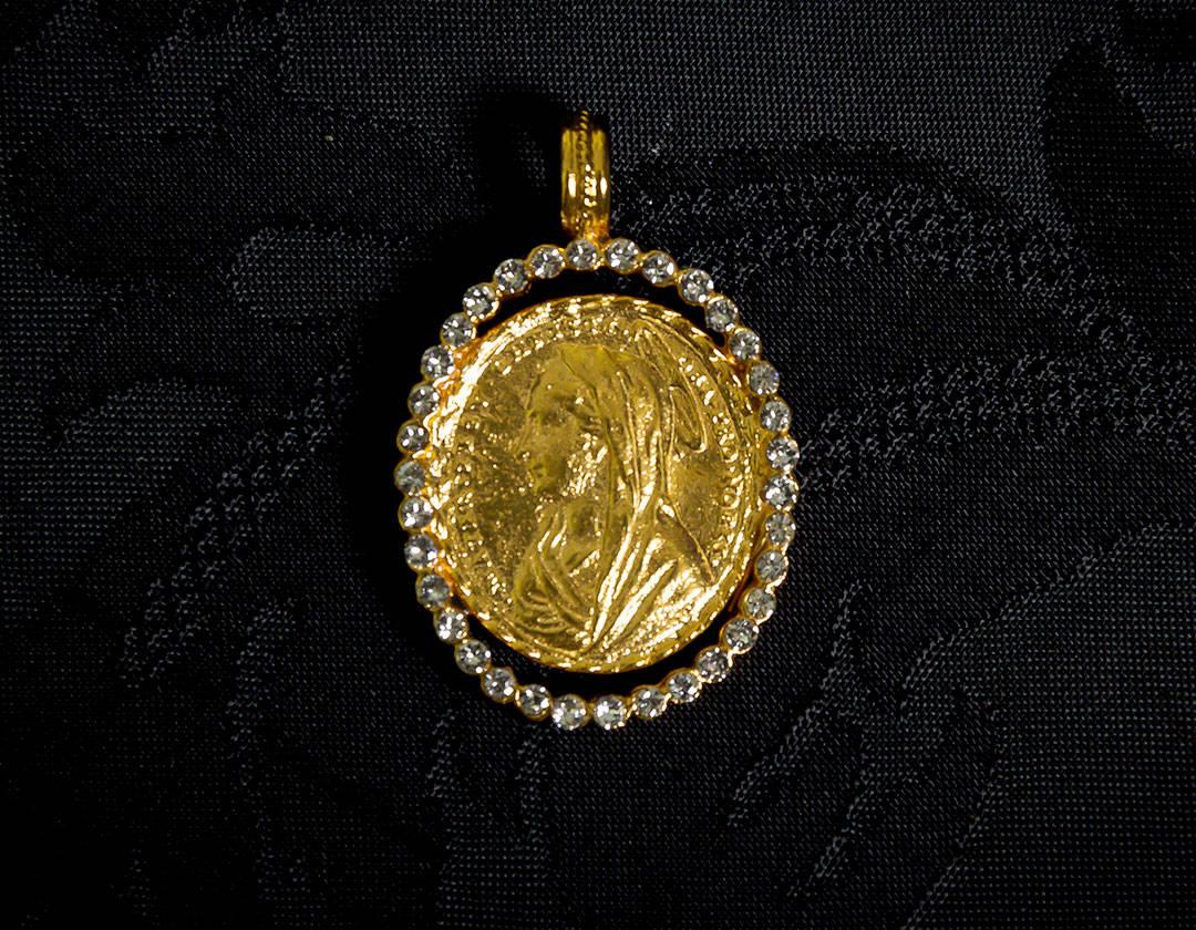Medalla escapulario Virgen María y Jesús ref. 43 oro