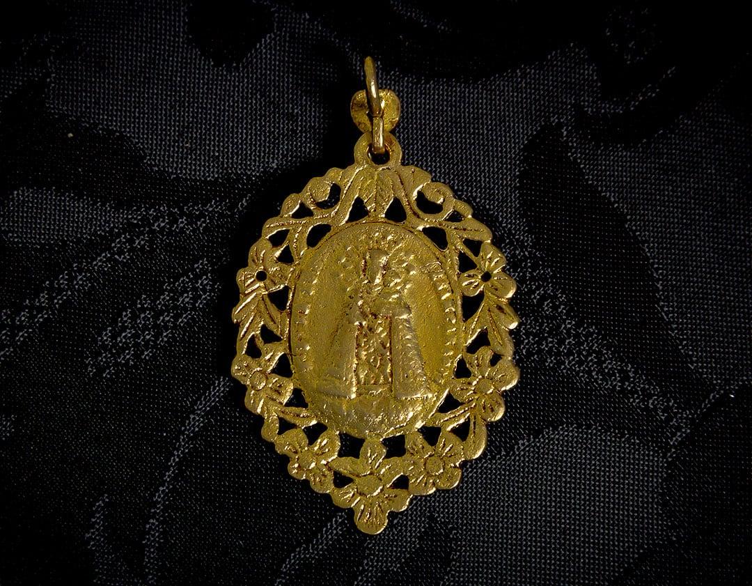 Medalla escapulario Virgen Desamparados y San José ref. 44 bronce inglés