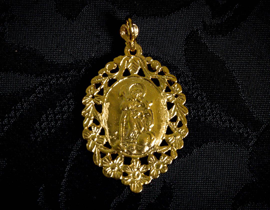 Medalla escapulario Virgen Desamparados y San José ref. 44 oro