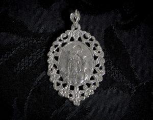 Medalla escapulario Virgen Desamparados y San José ref. 44 rodio