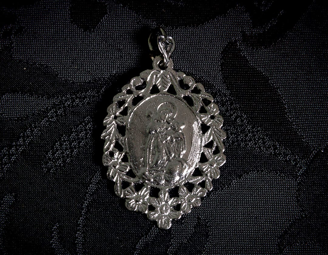 Medalla escapulario Virgen Desamparados y San José ref. 44 rutenio