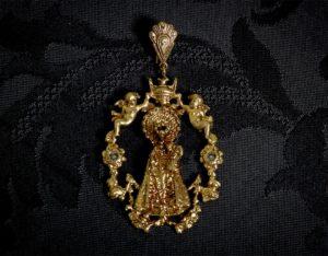 Medalla de la Virgen de los Desamparados ref. 45 bronce inglés
