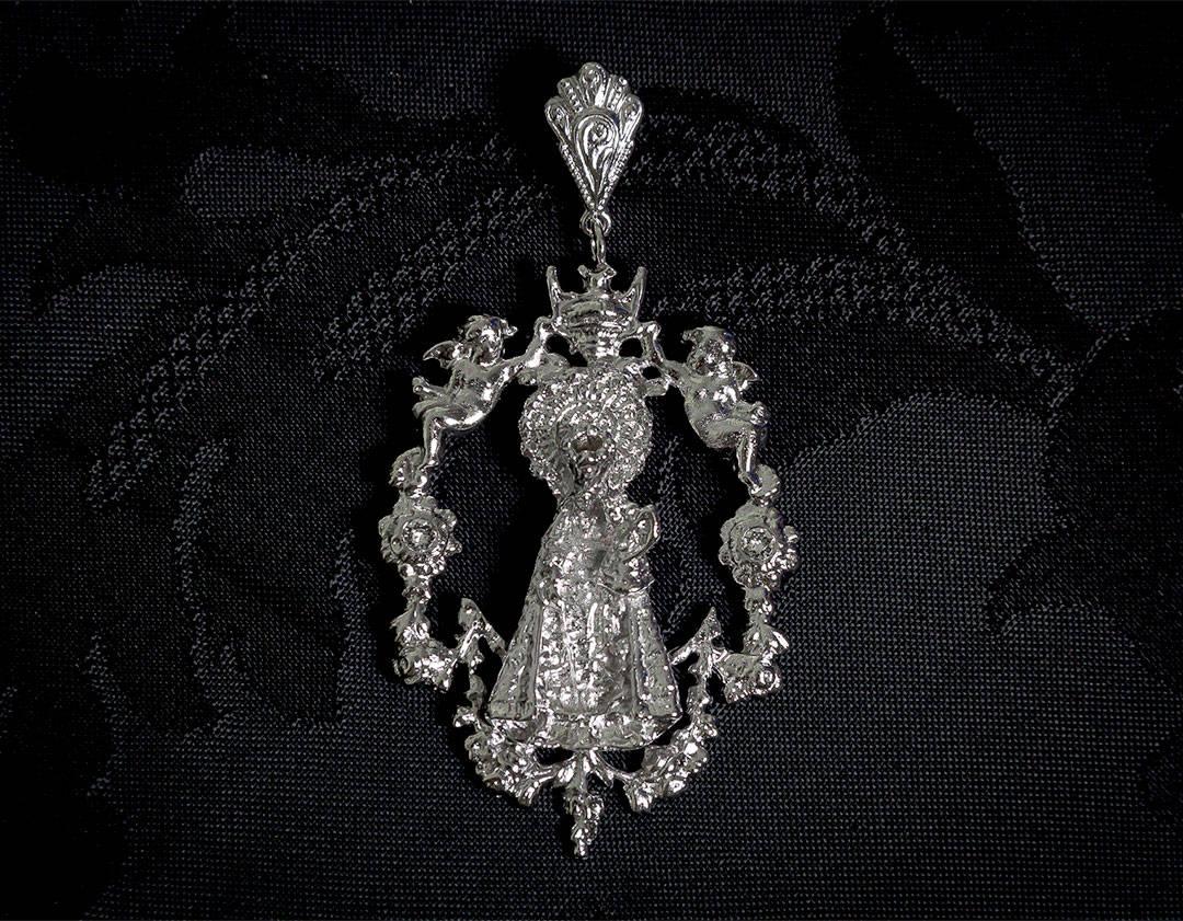 Medalla de la Virgen de los Desamparados ref. 45 rutenio
