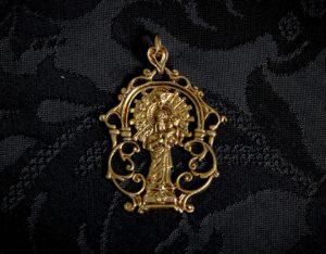 Medalla de la Virgen de la Encarnación ref. 47 bronce inglés