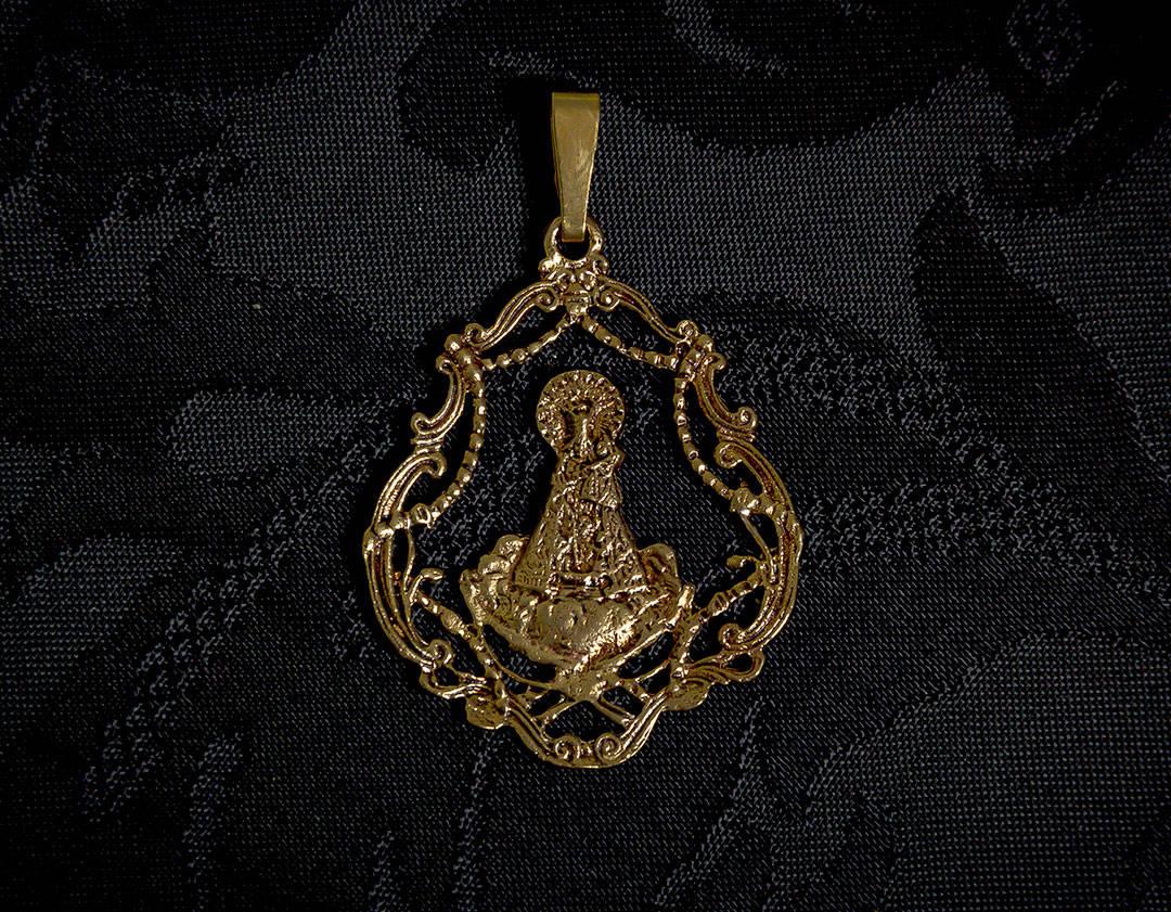 Medalla de la Virgen de los Desamparados ref. 50 bronce inglés