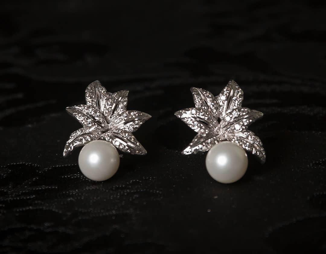 Pendientes plata de ley, circonitas y perla ref. ag714