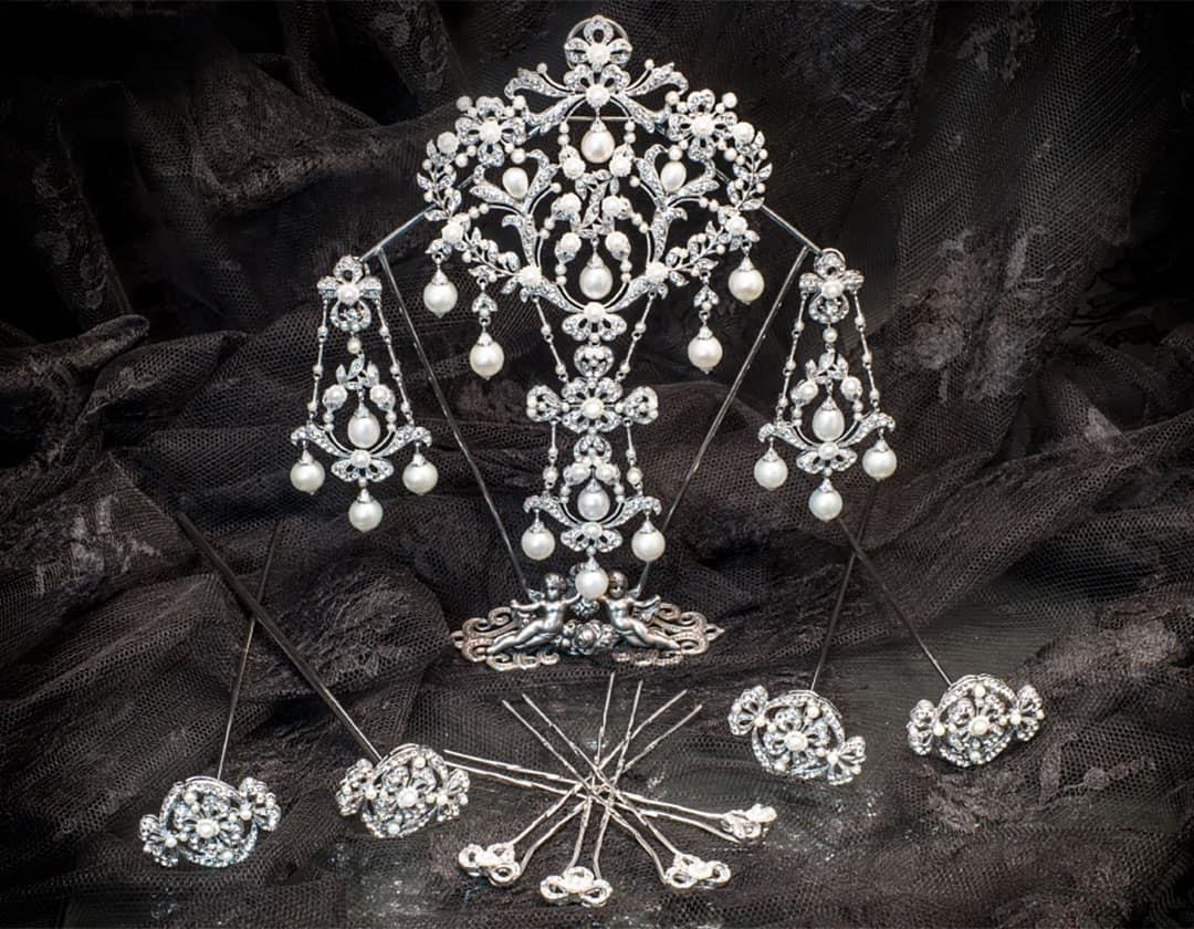 Aderezo del siglo XVIII modelo lámpara en cristal ref. m102