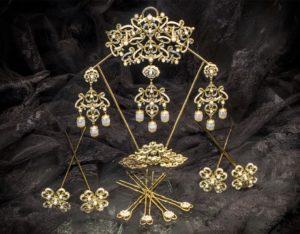 Aderezo del siglo XVIII modelo perlones en cristal ref. m105