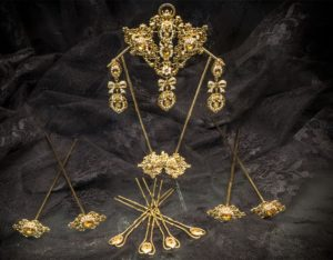 Aderezo del siglo XVIII en topacio y perla