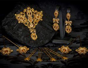 Aderezo del siglo XVIII en topacio y perla ref. m44