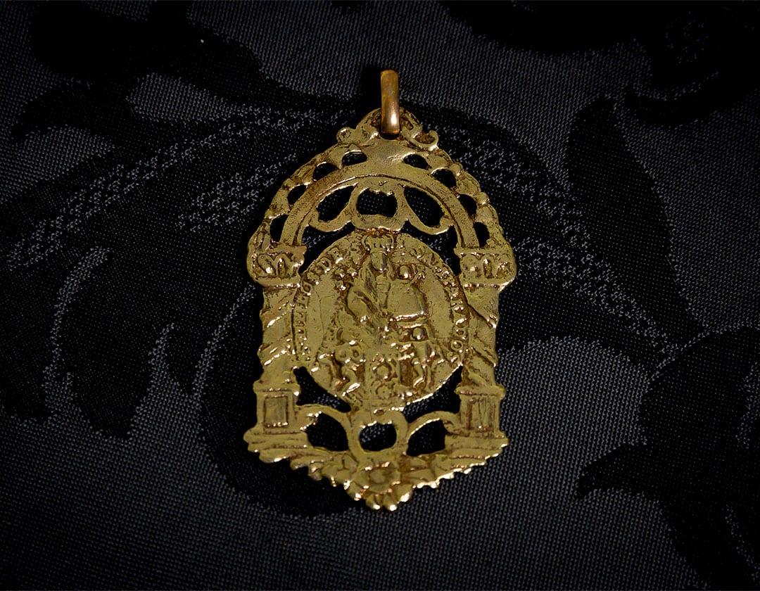 Escapulario Virgen Desamparados y San José ref. 58 bronce inglés