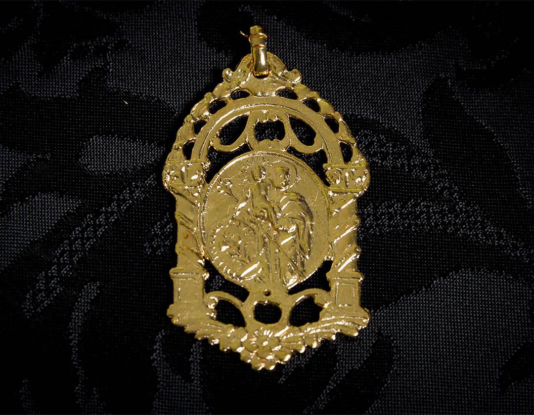 Escapulario Virgen Desamparados y San José ref. 58 oro