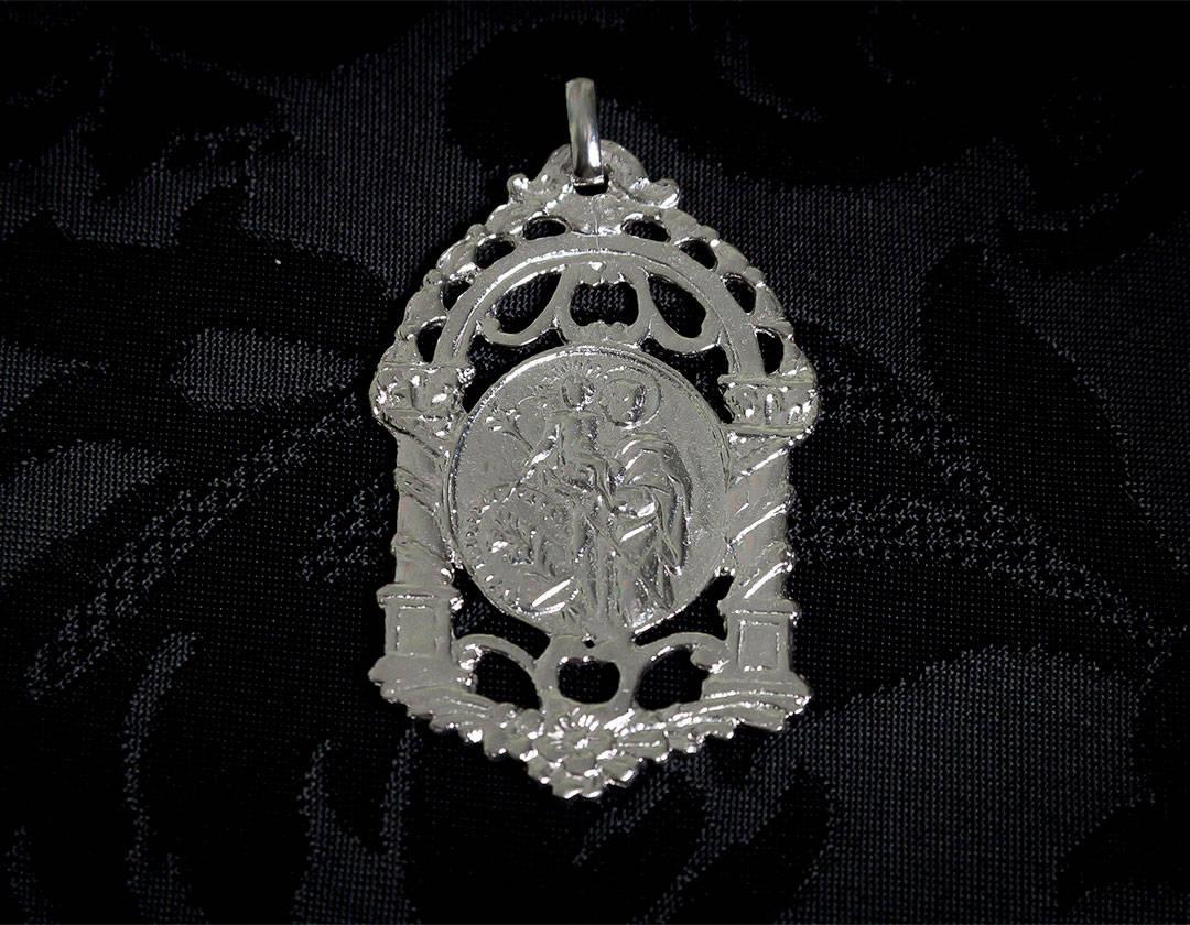 Escapulario Virgen Desamparados y San José ref. 58 rodio
