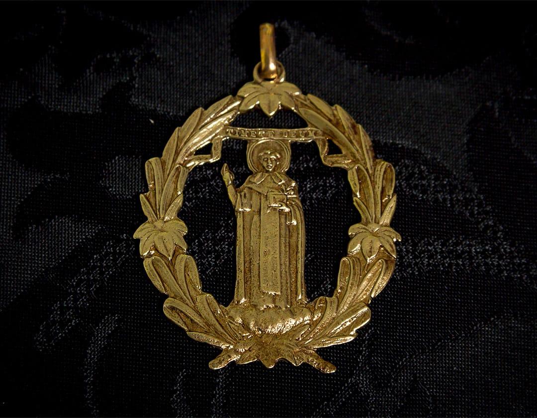 Medalla de San Vicente ref. 62 bronce inglés