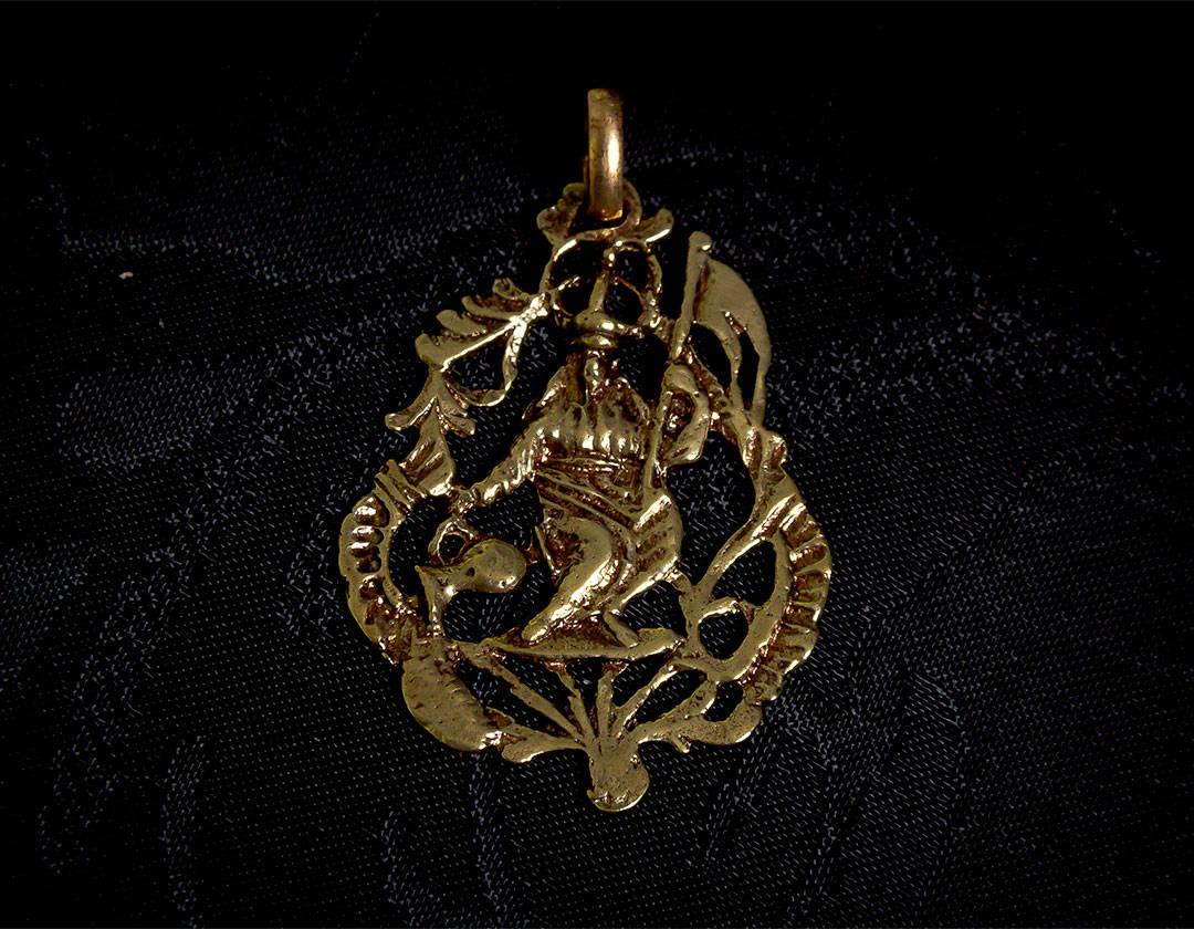 Medalla de la Divina Pastora ref. 63 bronce inglés