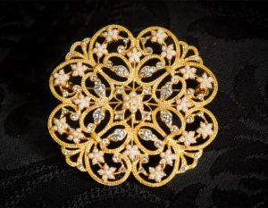 Medallón - Broche siglo XVIII ref. BP7 oro