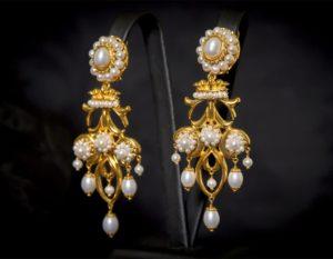 Pendientes de perla dorados ref. 2236