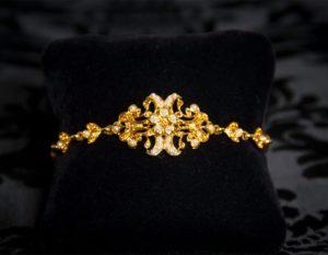 Pulsera de topacio y perla en oro ref. 812