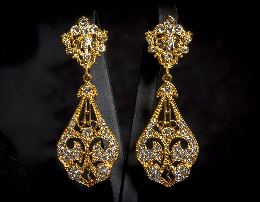 Aderezo del siglo XVIII en cristal y oro ref. r5021