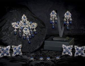 Aderezo del siglo XVIII de la polca en lapislázuli y rodio ref. m172